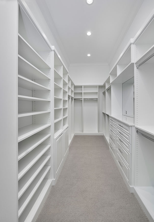 Hemingway Place Master Closet At Custom Luxury Home In Naples, Florida |  Borelli Construction Of